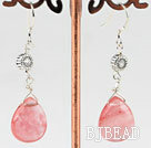 cherry quartz earring