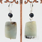 natural amazon stone earrings