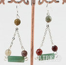 aventurine and indian agate earrings