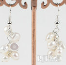 cluster style white pearl earrings under $ 40