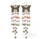 indian agate garnet earring