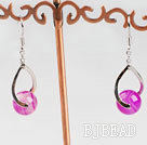 lovely pink agate earrings
