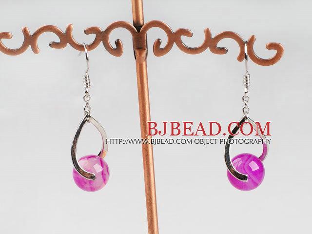 lovely pink agate earrings