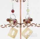 hot new style three color jade earrings