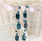 dangling style phoenix stone earrrings