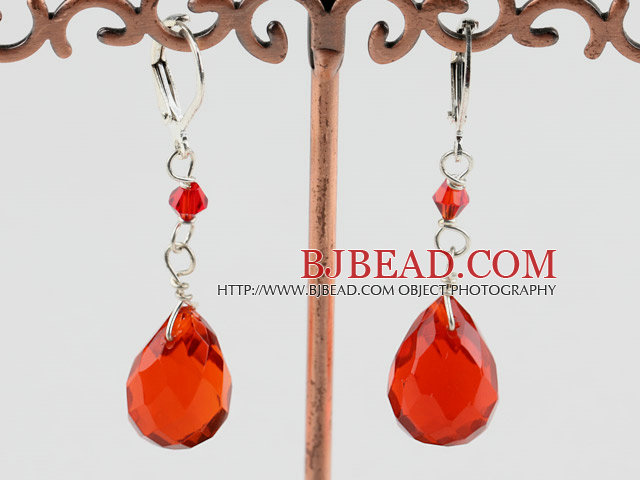 fashion manmade crystal drop earrings