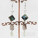 abalone shell crystal earring