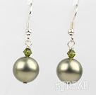 austrian crystal and seashell beads earrings under $ 40