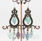 popular rainbow fluorite vintage earrings