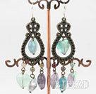 popular rainbow fluorite vintage earrings