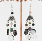 Indian agate shell earring