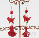 Cinnabar earrings under $ 40