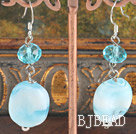 crystal colored glaze earring