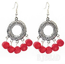 lovely red coral earrings