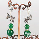 lovely butterfly ties and faceted green agate earrings