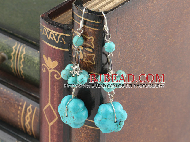 dangling style turquoise earrings