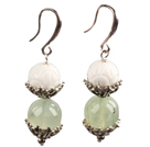 firecracker shape gem stone earrings