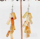 firecracker shape agate earrings