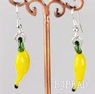 pepper shape yellow colored glaze earrings under $ 40
