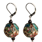 Simple Style Beautiful Vintage Cloisonne Ball Earrings