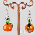 berry shape colored glaze earrings