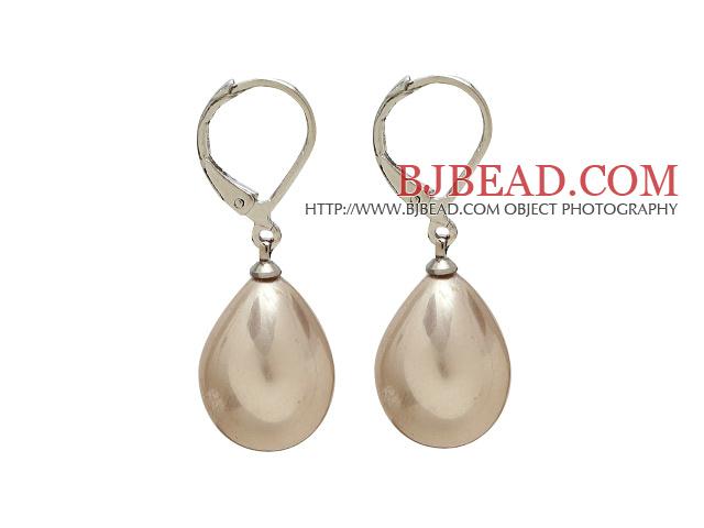 12*16 light brown drop shape earrings