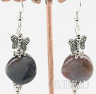 Indian agate butterfly charms earrings