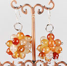 cluster style 6mm agate ball earrings