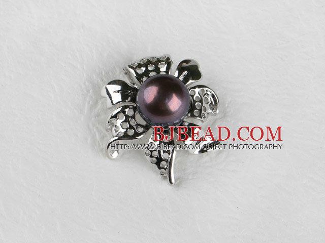 beautiful black fresh water pearl pendant( no chains)