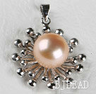 lovely pink pearl pendant( no chains)