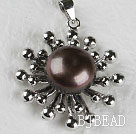 lovely black pearl pendant( no chains)
