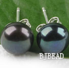 hot 8-8.5 mm black pearl studs