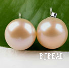 hot 11.5-12mm natural pink pearl studs