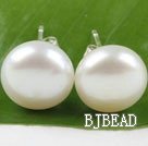 sellable 11.5-12mm real pearl studs