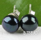 8-8.5mm black pearl stud