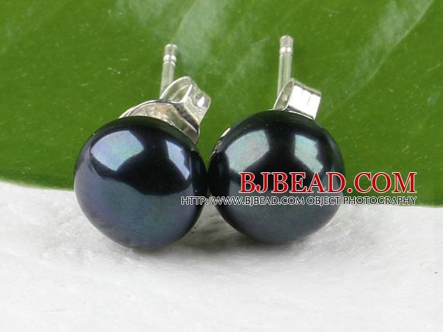 8-8.5mm black pearl stud