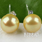 8-8.5 mm dyed bright yellow pearl studs