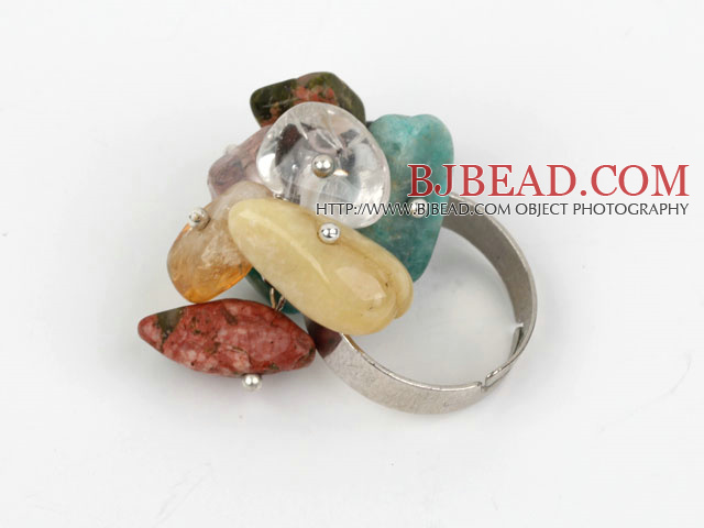 Classic Design Assorted Mutli Stone Adjustable Ring
