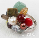 Classic Design Assorted Multi Stone Adjustable Ring under $ 40