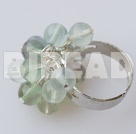 Rainbow flourite ring
