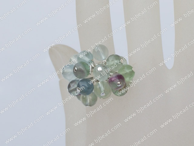 rainbow flourite ring