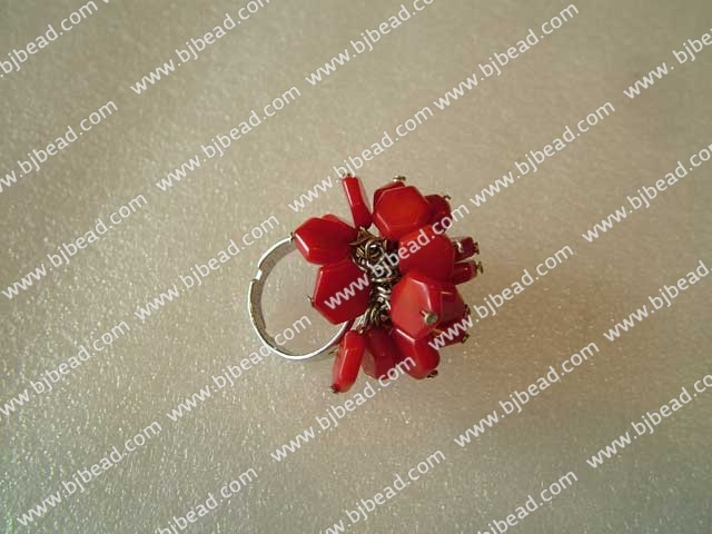 fashion elegant coral ring