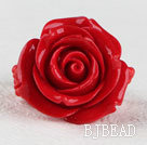 beautiful romantic red rose quartze ring