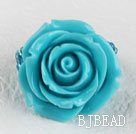 admirably blue rose quartze ring