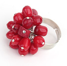 7-8mm red coral ring (adjustable)