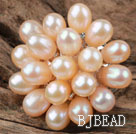 Natural Pink Freshwater Pearl Flower Shape Ring (Free Size)