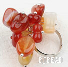 Assorted Agate Stone Adjustable Ring