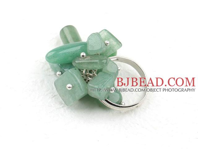 Assorted Aventurine Stone Adjustable Ring