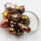 Assorted Freshwater Pearl Adjustable Ring under $ 40