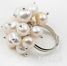 Classic Design White Freshwater Pearl Adjustable Ring